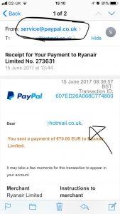 False sender email