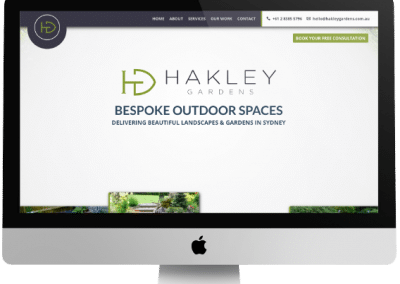 Hakley Gardens Website Design