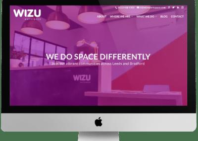 Wizu Workspace Website Design
