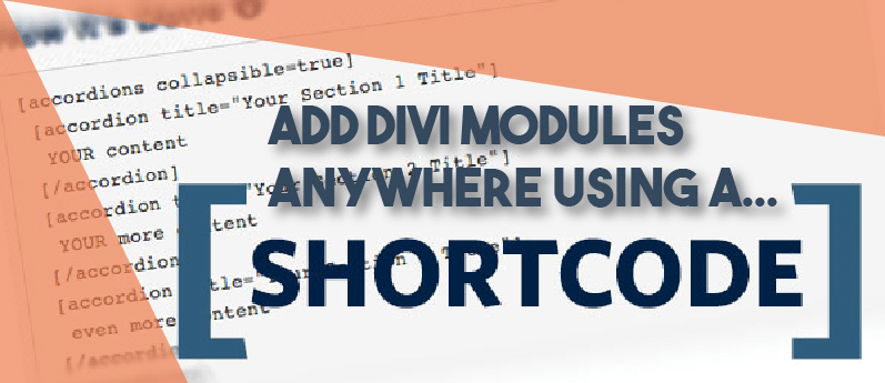 Adding divi shortcodes anywhere