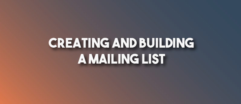 Building An Email Subscriber List