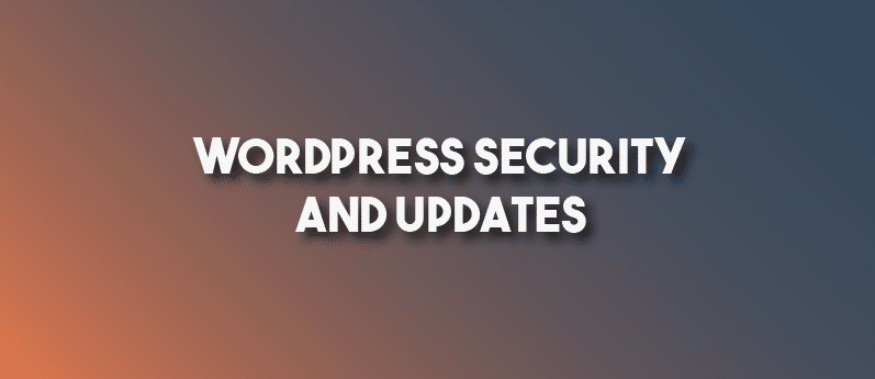 WordPress Security And Updates