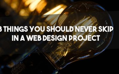 8 things you should never skip in a web design project