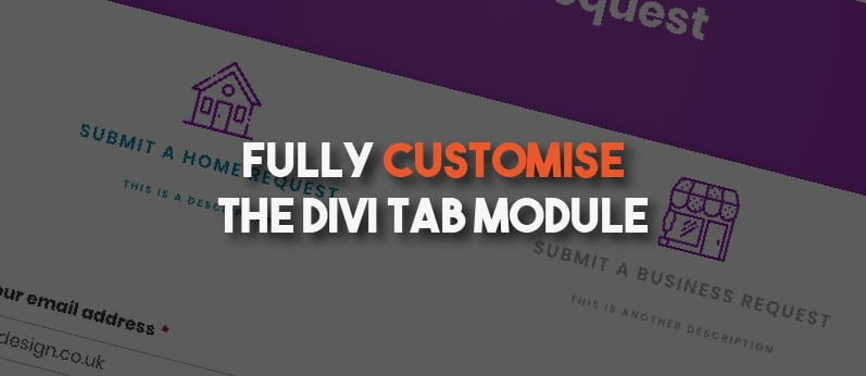 Customise The Tab Titles Within The Divi Tab Module