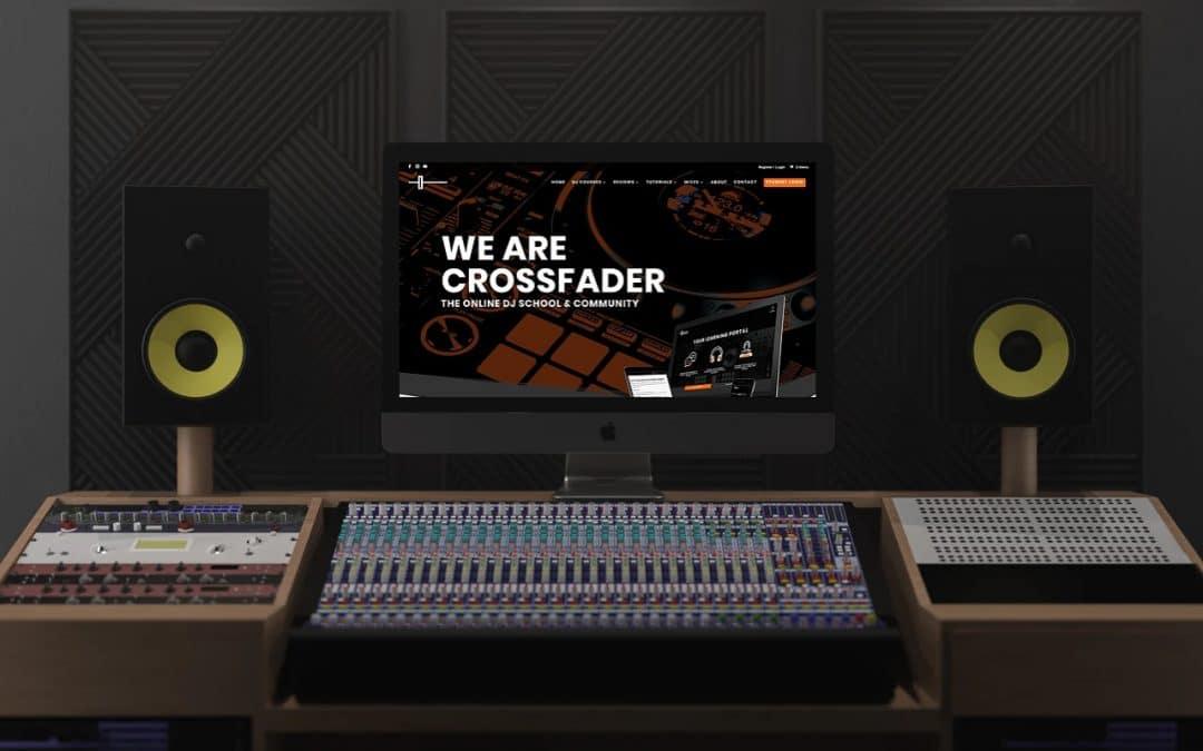 Crossfader Website Design