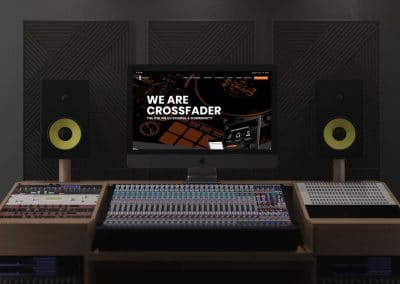 Crossfader Website Design