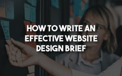 How to write an effective website design brief